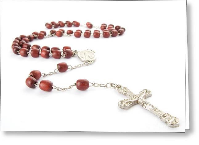 Rosary Greeting Cards - Rosary beads Greeting Card by Jose Elias - Sofia Pereira