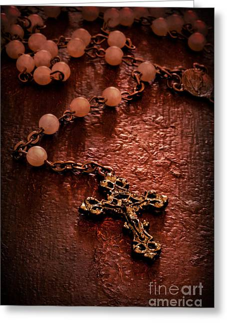 Rosary Greeting Cards - Rosary Love Greeting Card by Margie Hurwich