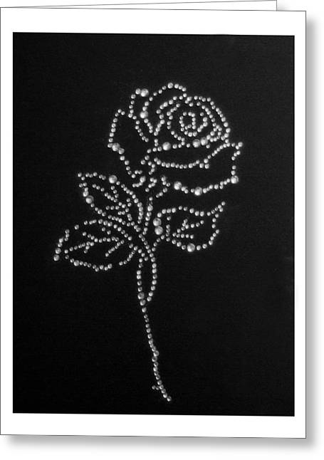 Stones Glass Art Greeting Cards - Rose Greeting Card by Adrian Muka