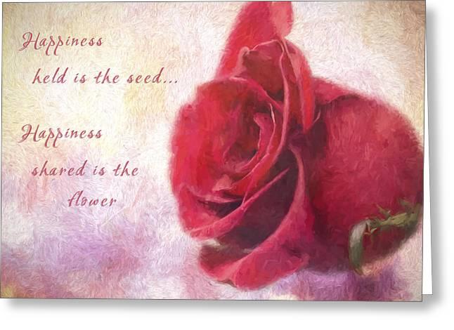 Rose Art - Happiness Shared Greeting Card by Jordan Blackstone