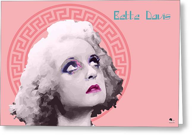 Tasteful Art Digital Art Greeting Cards - Bette Davis Rose By Quim Abella Greeting Card by Joaquin Abella