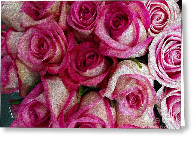 Soft Mood Greeting Cards - Rose Bouquet Greeting Card by Cheryl Young