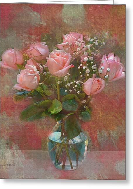 Sandi Oreilly Greeting Cards - Rose Bouquet Greeting Card by Sandi OReilly