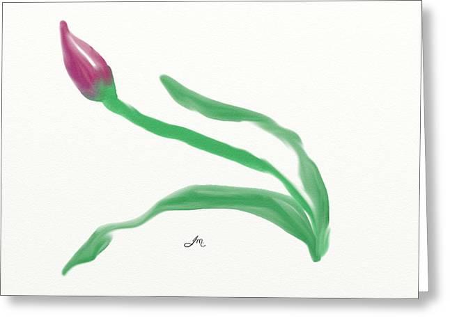 Sketchbook Digital Greeting Cards - Rose Bud Greeting Card by Joanne McKinnon