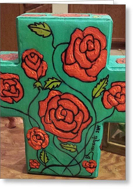 Roses Sculptures Greeting Cards - Rose bush Greeting Card by Yovannah Diovanti