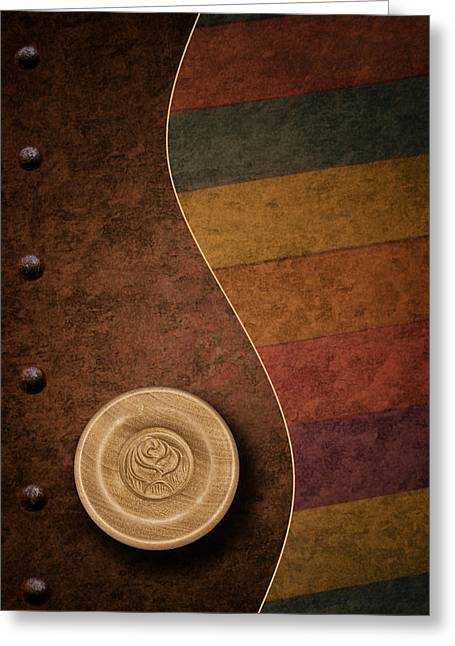 Vertical Abstract Art Greeting Cards - Rose Button Greeting Card by Tom Mc Nemar