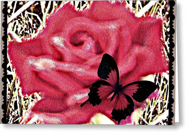 Matting Greeting Cards - Rose By Any Other Name Greeting Card by Bobbee Rickard