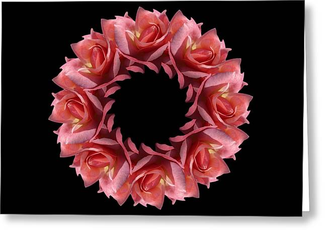 Esotericism Greeting Cards - Rose Cherry Brandy Greeting Card by Ilse Geitmann