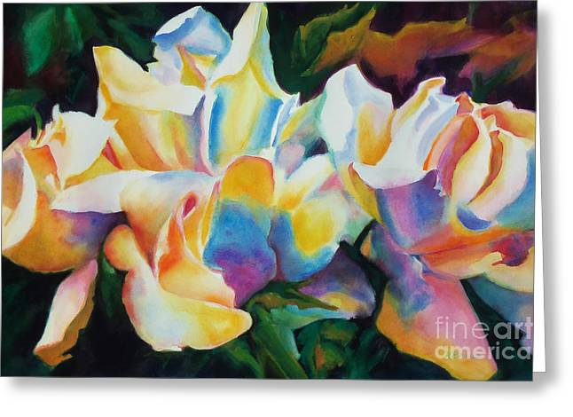 Many Greeting Cards - Rose Cluster Half Greeting Card by Kathy Braud