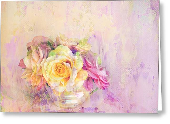 Pillow With Roses Greeting Cards - Rose Dream Greeting Card by Theresa Tahara