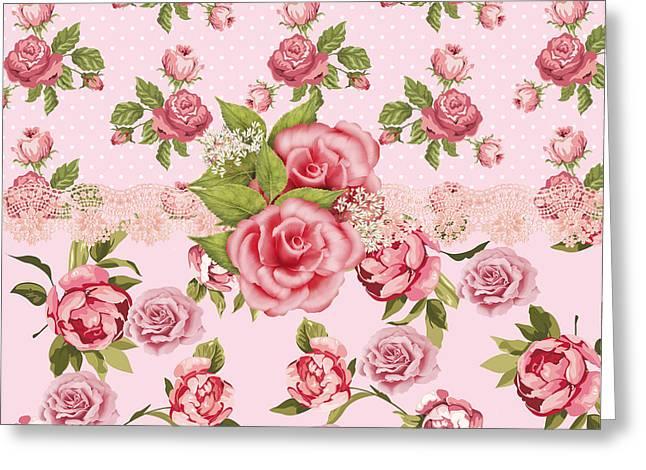 Rose Elegance Greeting Card by Debra  Miller