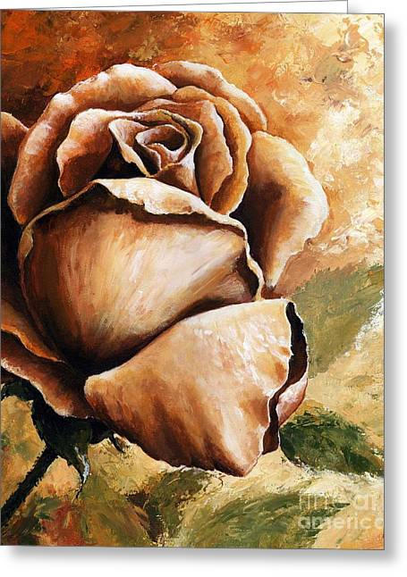 Earth Colors Greeting Cards - Rose Greeting Card by Emerico Imre Toth