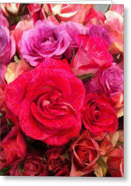 Enhanced Greeting Cards - Rose Enhanced Greeting Card by Marian Palucci