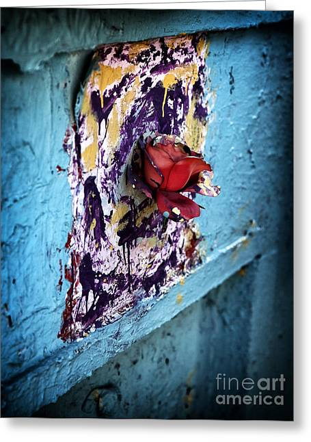 Rose Red City Greeting Cards - Rose for the Dead Greeting Card by John Rizzuto
