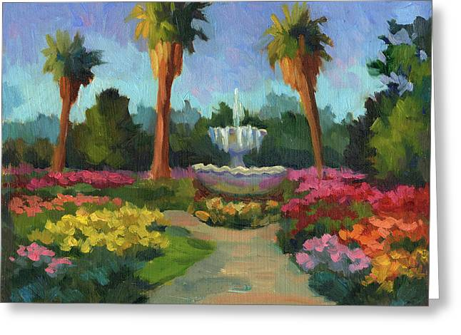 Rose Garden Greeting Card by Diane McClary