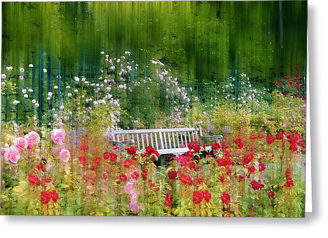 Jessica Photographs Greeting Cards - Rose Garden Impressions Greeting Card by Jessica Jenney