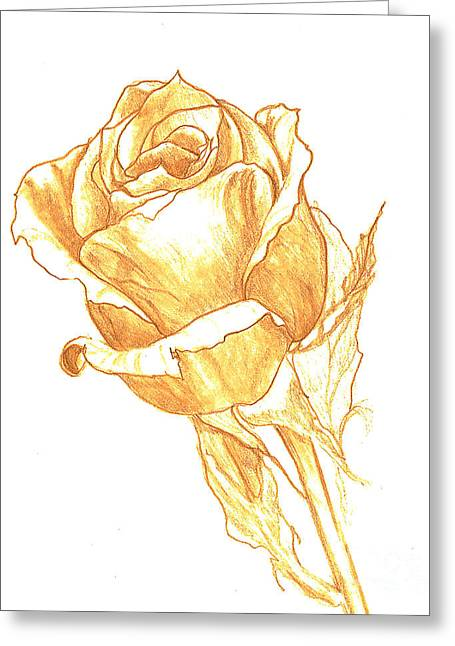 Powder Drawings Greeting Cards - Rose Gold Greeting Card by Heather  Hiland