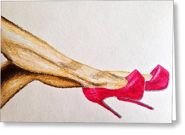 High Heeled Pastels Greeting Cards - Rose Heels Greeting Card by James Patrick