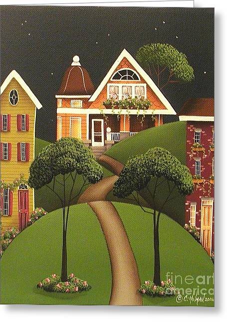 Catherine Window Greeting Cards - Rose Hill Lane Greeting Card by Catherine Holman