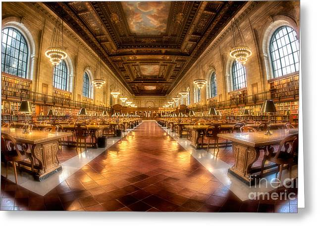 Rose Main Reading Room Greeting Card by Jerry Fornarotto