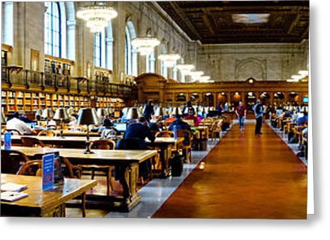 Reading Greeting Cards - Rose Main Reading Room New York Public Library Greeting Card by Amy Cicconi