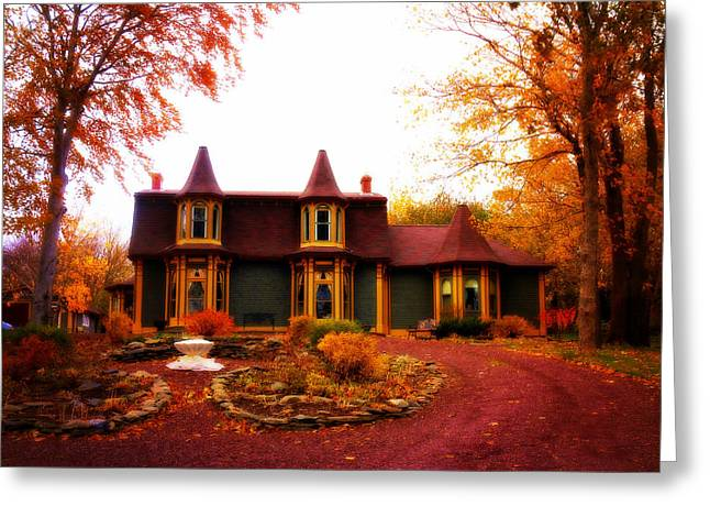 Old Inns Photographs Greeting Cards - Rose Manor Greeting Card by Zinvolle Art