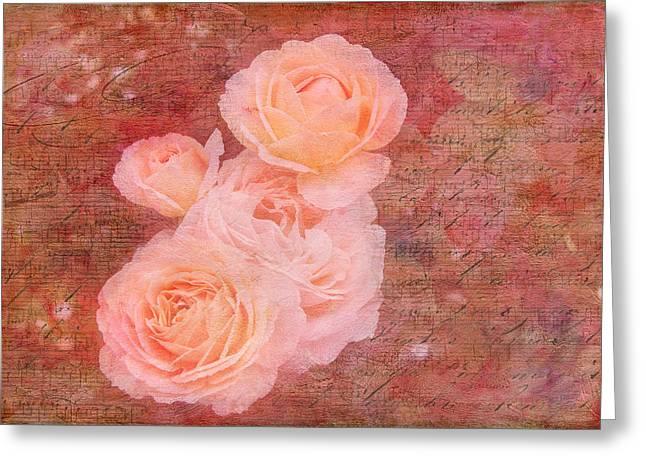 Metal Sheet Greeting Cards - Rose Melody Greeting Card by Melinda Dreyer
