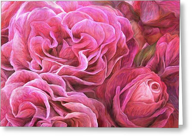 Pink Flower Prints Greeting Cards - Rose Moods - Desire Greeting Card by Carol Cavalaris