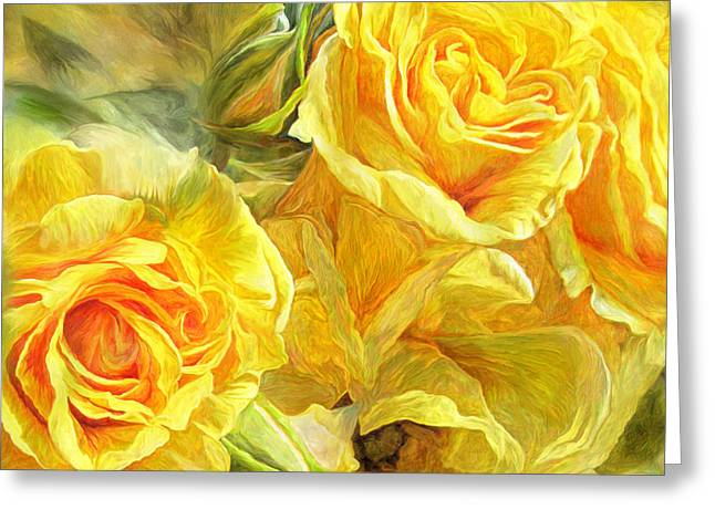 Rose Prints Greeting Cards - Rose Moods - Joy Greeting Card by Carol Cavalaris
