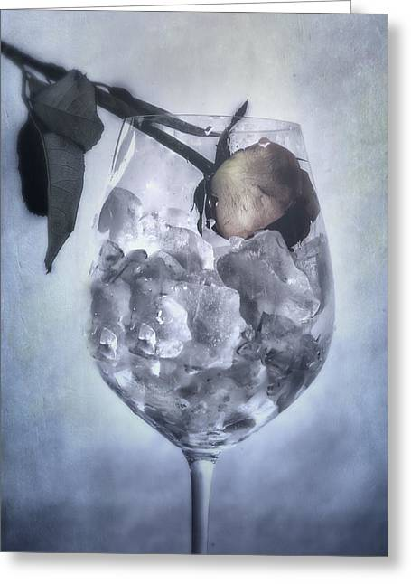 Morbid Greeting Cards - Rose On The Rocks Greeting Card by Joana Kruse