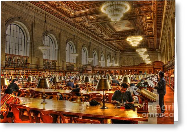 Rose Reading Room Greeting Card by David Bearden
