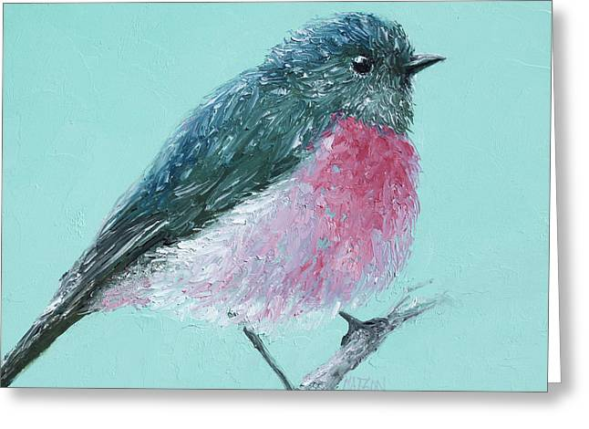 Country Cottage Greeting Cards - Rose Robin Greeting Card by Jan Matson