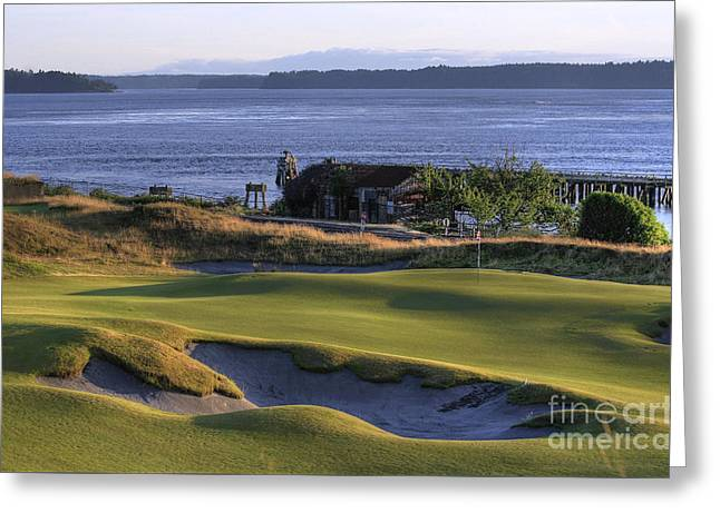 Best Sellers -  - Us Open Photographs Greeting Cards - Hole 17 HDR Greeting Card by Chris Anderson