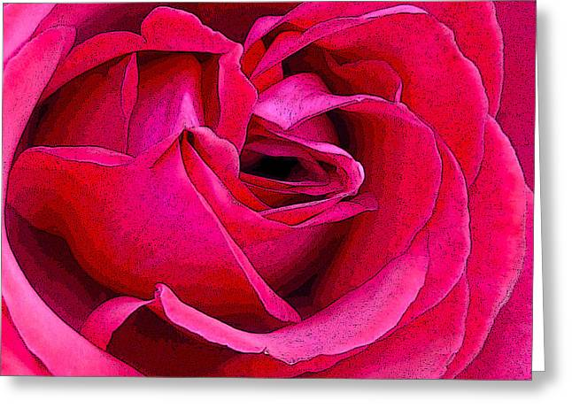Pink Flower Prints Greeting Cards - Rose Greeting Card by Sharon Lisa Clarke