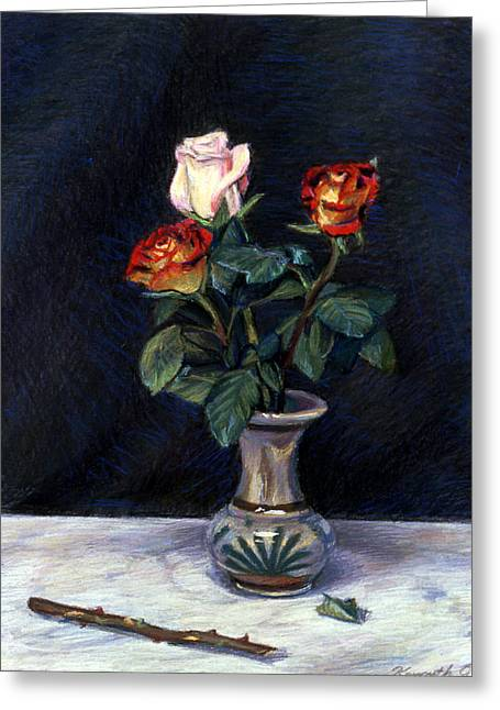 Awesome Pastels Greeting Cards - Rose Greeting Card by Kenneth Cobb