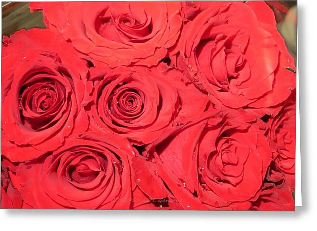 Rose Swirls Greeting Card by Sonali Gangane