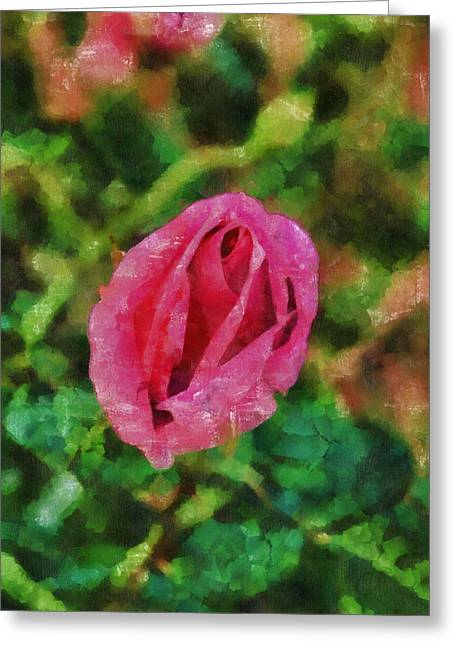 Photographs Pastels Greeting Cards - Rose Temptation Greeting Card by Viktor Savchenko