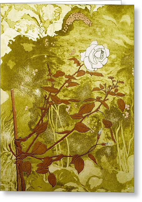 Rose Prints Greeting Cards - Rose Greeting Card by Valerie Daniel