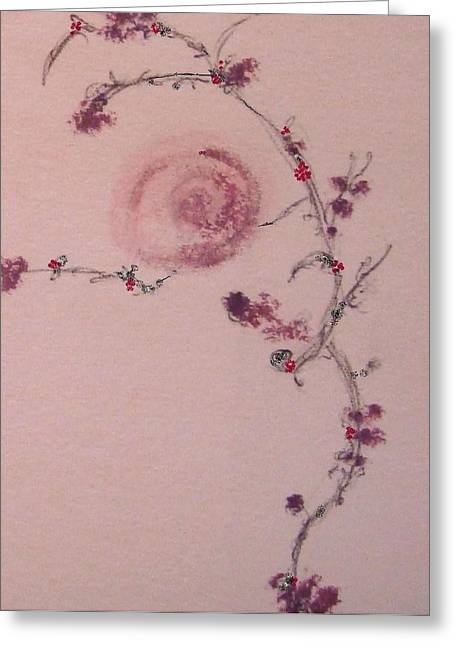 Tendrils Pastels Greeting Cards - Rose Vine Greeting Card by Christine Corretti