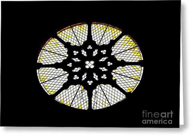 Rose Window Greeting Cards - Rose Window Greeting Card by Jose Elias - Sofia Pereira