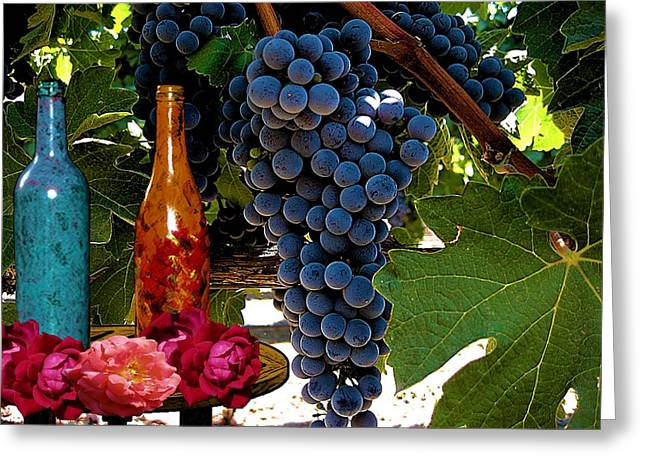 Rose Wine Greeting Card by Bobby Blanton