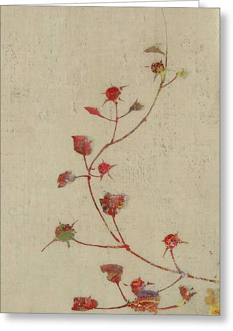 Art Decor Greeting Cards - Rosebush Greeting Card by Aged Pixel