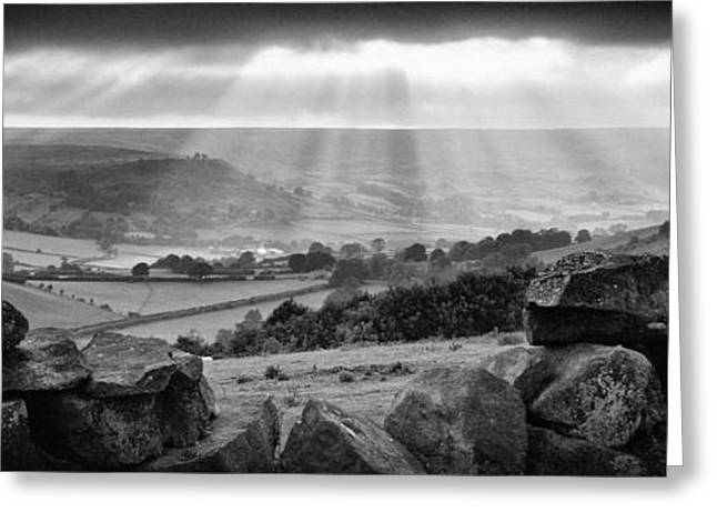 The North Greeting Cards - Rosedale Panorama Sunset Greeting Card by John Potter