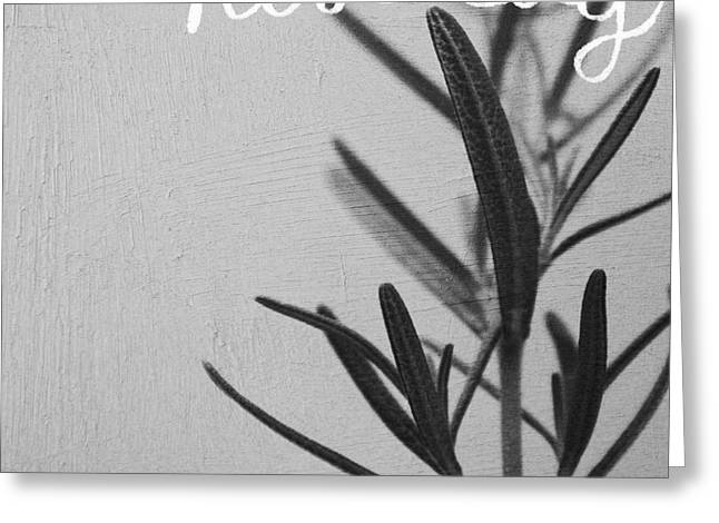 Rosemary Greeting Card by Linda Woods