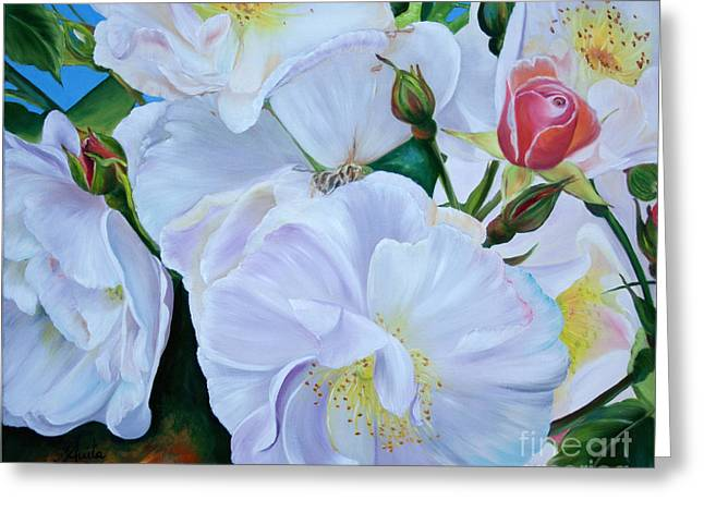 Shower Curtain Greeting Cards - Rosenimpression Greeting Card by  ILONA ANITA TIGGES - GOETZE  ART and Photography