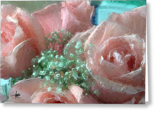 Herb Briley Greeting Cards - Roses 3 Greeting Card by Herb Briley