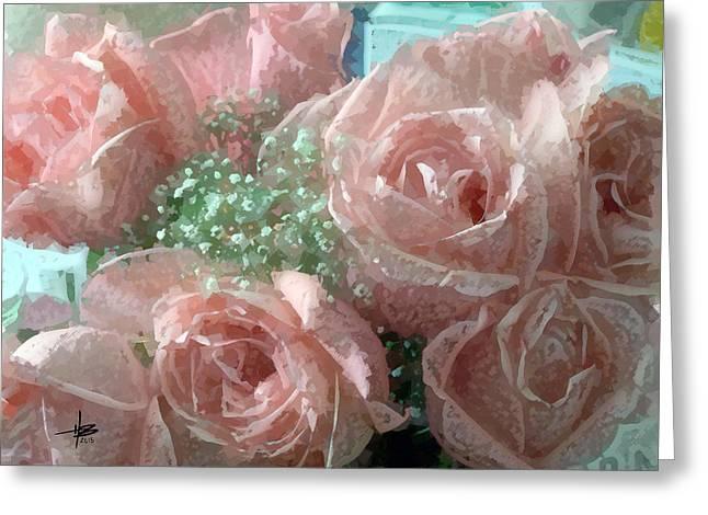 Herb Briley Greeting Cards - Roses 4 Greeting Card by Herb Briley