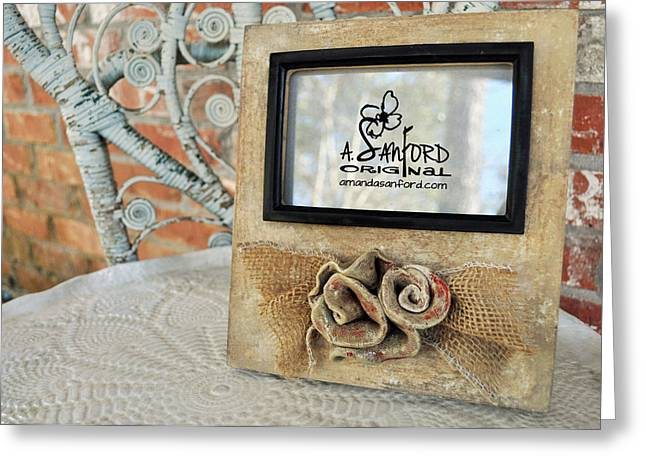 Chic Ceramics Greeting Cards - Roses are Red Greeting Card by Amanda  Sanford