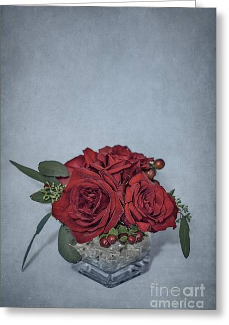 Flower Blooms Greeting Cards - Roses Are Red... Greeting Card by Evelina Kremsdorf