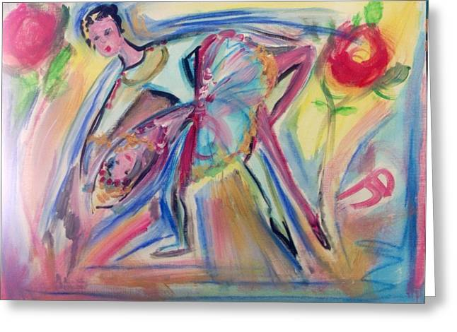 Dance Ballet Roses Greeting Cards - Roses are red my love Greeting Card by Judith Desrosiers